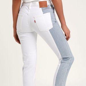 LEVI'S   Color block jeans